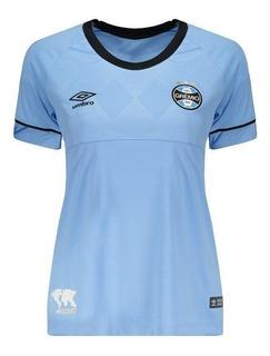 Camisa Umbro Grêmio Ii 2018 Feminina Charrua