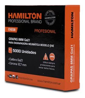 Grampa Engrampadora Hamilton 12.7 X 8 Mm X 5000 Unid Ene08