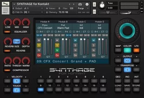 Samples Kontakt,  Synthage Yamaha Montage