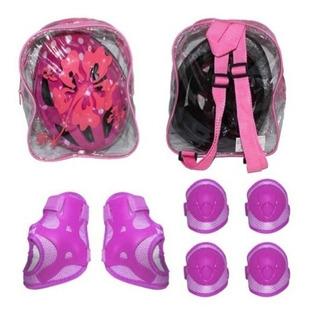Kit Proteção Infantil Rosa Cap/cotov/joelhei/munheq