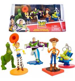 Kit Set 5 Bonecos Vinil Domo Personagens Toy Story Disney