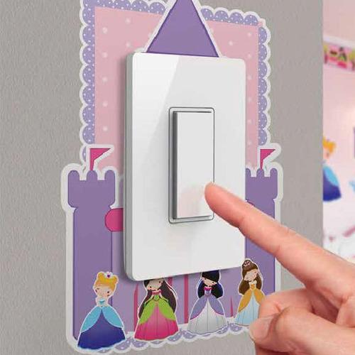 Sticker Adhesivo Enchufe Interrup. Fantasy Princess Contact