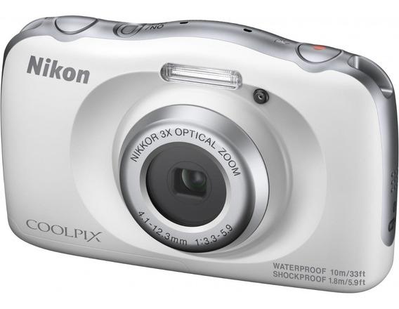 Câmera Nikon Aquática Coolpix W150 Branca Wifi