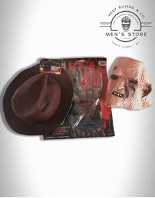 Kit Freddy Krueger. Chapeu, Mascara E Luva. Importados