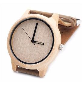 Relógio Unissex Bambu Madeira Anal. Bobo Bird A22 Lindo!