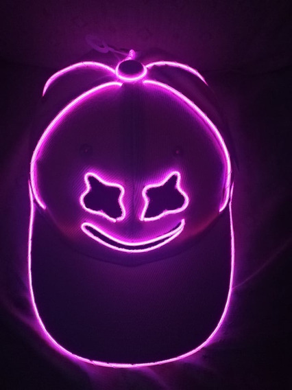 2gorras Marshmallow Dj Con Luz Neon Varios Colores Bordada
