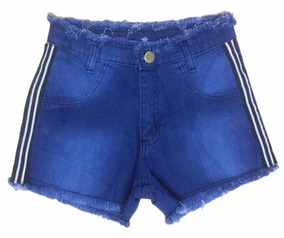 10 Short Jeans Feminino Desfiado Cintura Alta Atacado Lycra