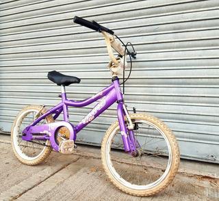 Bicicleta Rodado 16 Vairo Violeta Niños Niñas Infantil.