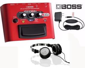 Pedal Boss Harmonist Ve2 Vocal + Fonte Boss Original + Fone