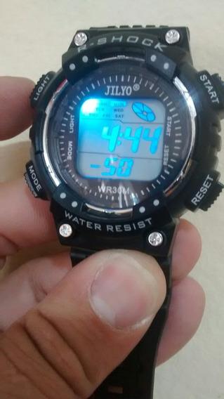 Relógio Digital Esport Led Troca De Cor Bonito Moderno Barato Promoção
