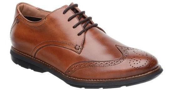 Sapato Oxford Malbork Couro Natural Caramelo Solado Extreme