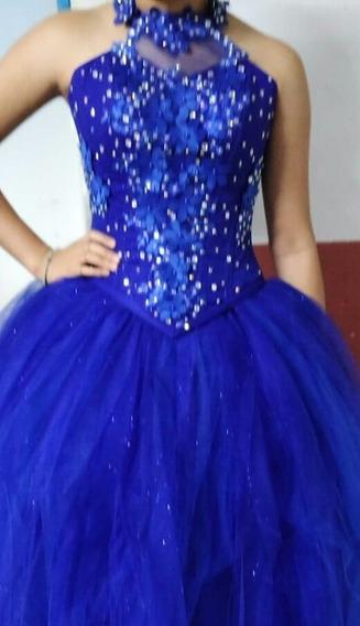 Vestido De 15 Años Azul Nuevo