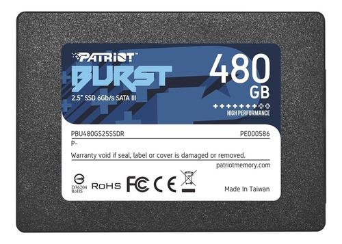 Ssd Patriot Burst 2.5  480gb Sata Iii 560 Mbs Pbu480gs25ssdr