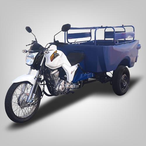 Triciclo Fusco 8 - Caçamba Polietileno - Transporta 300kg
