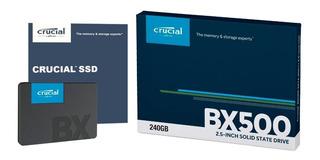 Disco Solido 240gb Ssd Crucial Bx500 Sata 3 Laptop Pc Nuevo*