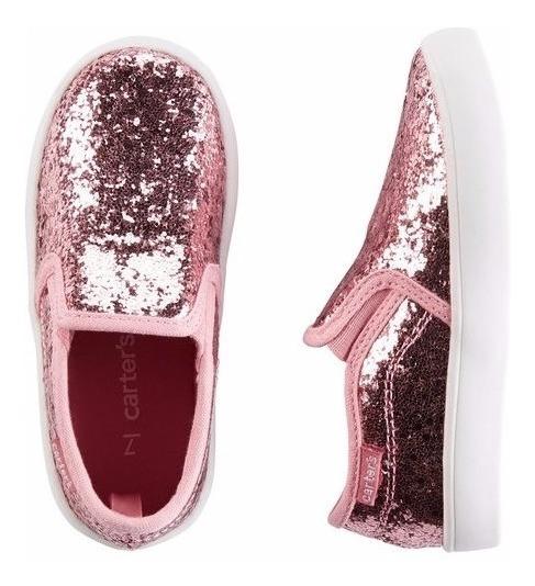 Carters Panchas Glitter Zapato Brillos Fiesta Lv Importados