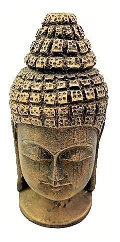 Imagem 1 de 4 de Estatueta Cabeça Buda Hindu Dourado Em Pé Dourado 232