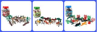 Kit De Animales Granja - Marinos Y Dinosaurios X 20 C/u Infantil