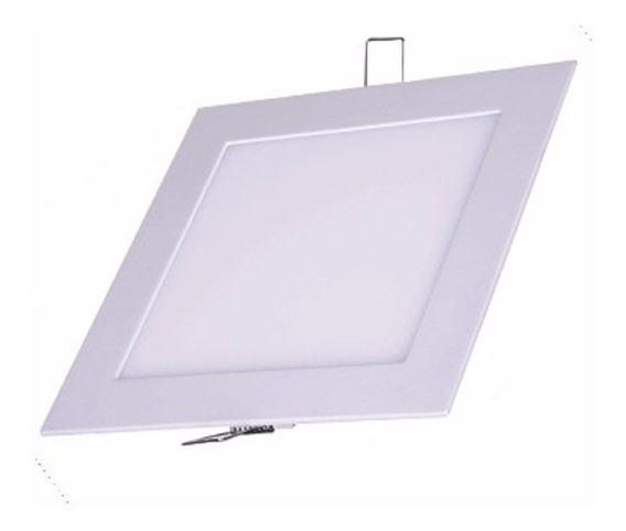 Kit 20 Plafon Painel Led 18w Embutir Quadrado Branco Frio/q