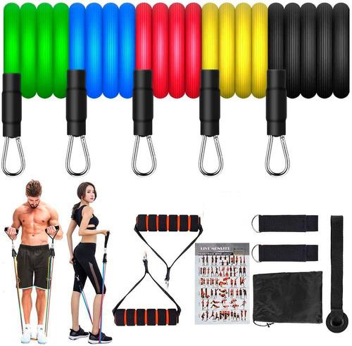 Ligas Bandas De Resistencia Fitness Kit (11 Piezas)