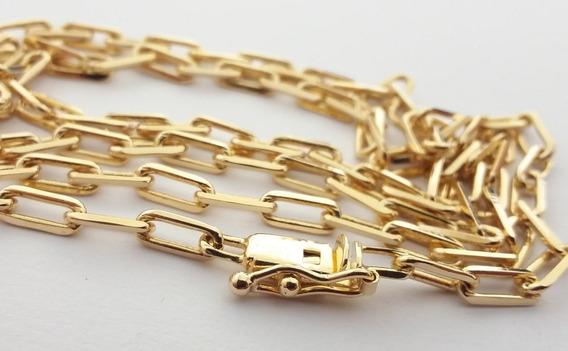 Corrente Masculina Banhada A Ouro 18k 3,5mm 70cm