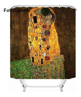 Cortina De Baño El Beso De Gustav Klimt