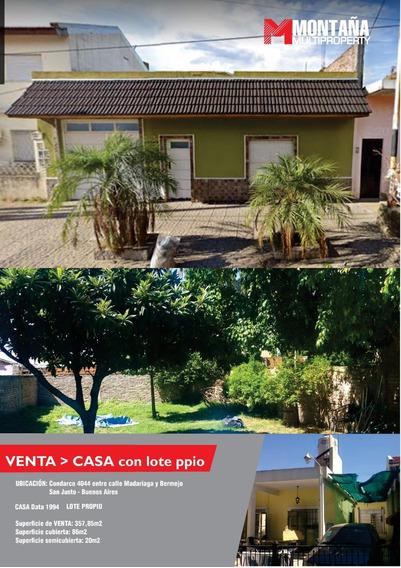 Casa San Justo 4 Amb 3 Dor Cocheras Lote Propio Parque