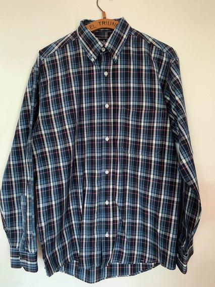 Camisa Hombre Xl 100% Algodón No Etiqueta Negra No Bensimon.