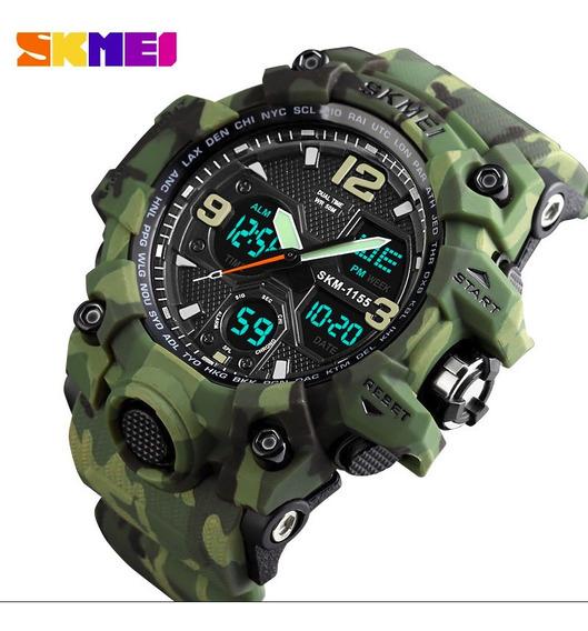 Relógio Estilo G-shock Militar Skmei 1155 Analógico/digital