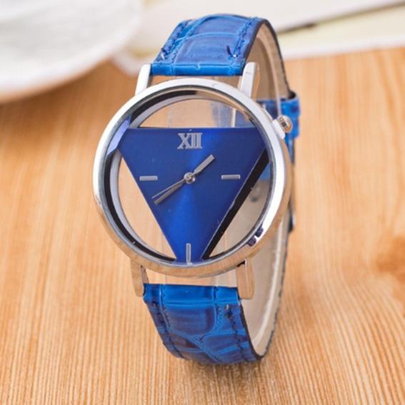 Relógio Luxo Unissex Pulso Casual Pulseira Couro Lançamento