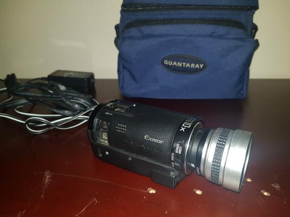 Filmadora Sony Cx-100 Com Lente 0.5 Wide Angle + Cartão 8gb