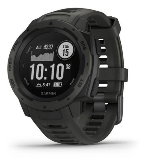Relógio Multiesportivo Garmin Instinct Preto Com Monitor C