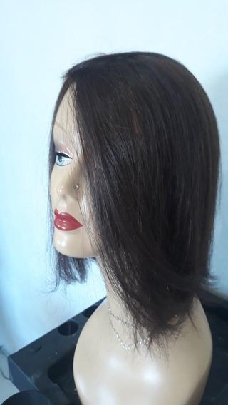 Prótese Capilar Cabelo Humano Natural 30cm Silk Top Vip Hd