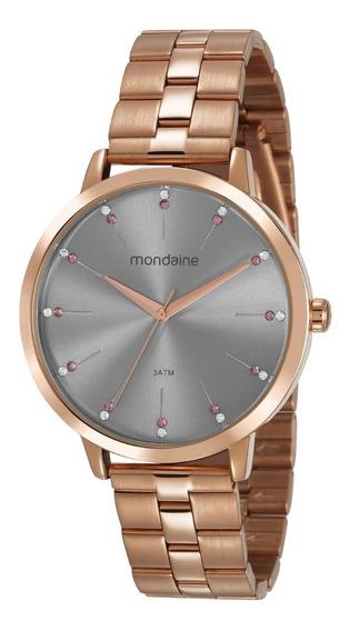 Relógio Mondaine Feminino Analógico Rosé Gold Original