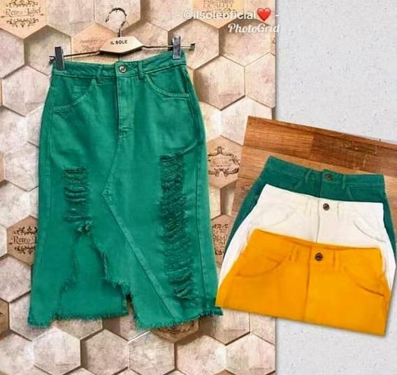 Saia Midi Jeans /cores
