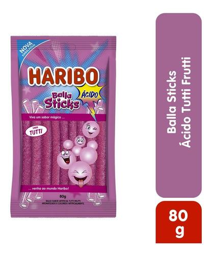 Imagem 1 de 2 de Balla Sticks Acido Tutti Haribo 80g