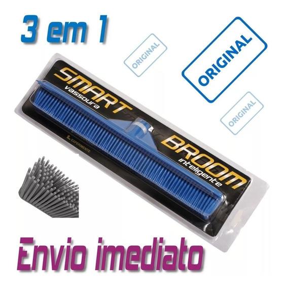 Kit Com 3 Vassouras Inteligente 3 Em 1 Original