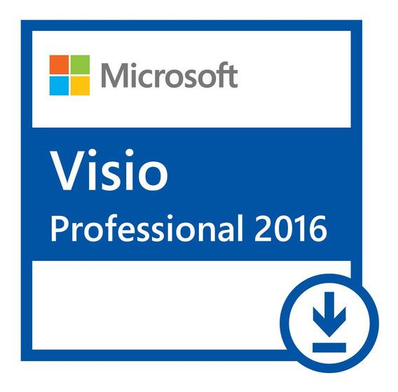 Key Visio2016 Pro Oem Orignal Ativação Online 32/64bits