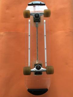 Patineta. Skateboard. Transparente. Acrilico. Con Luces Led