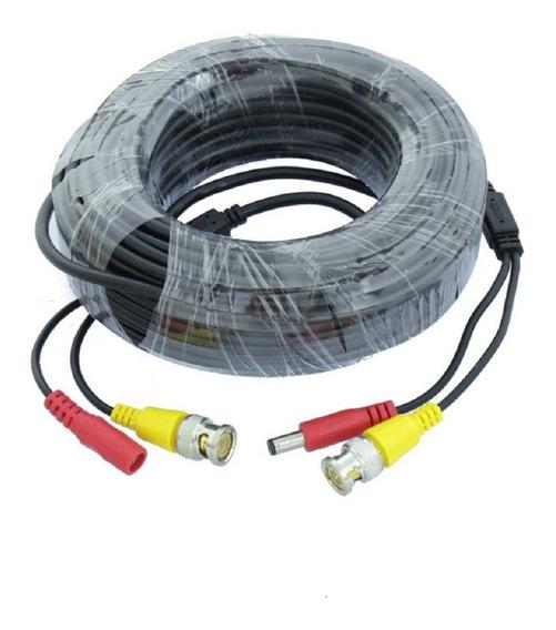 Cable 20m Video Bnc Alimentacion Camara Seguridad Reforzado