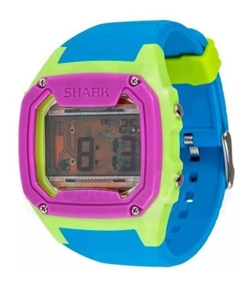 Relógio Killer Shark Skeleton Azul Verde Roxo Freestyle