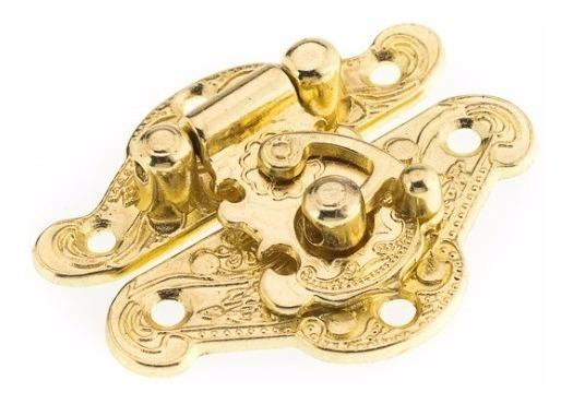 Fecho Oriental Pequeno Dourado Mdf Artesanatos