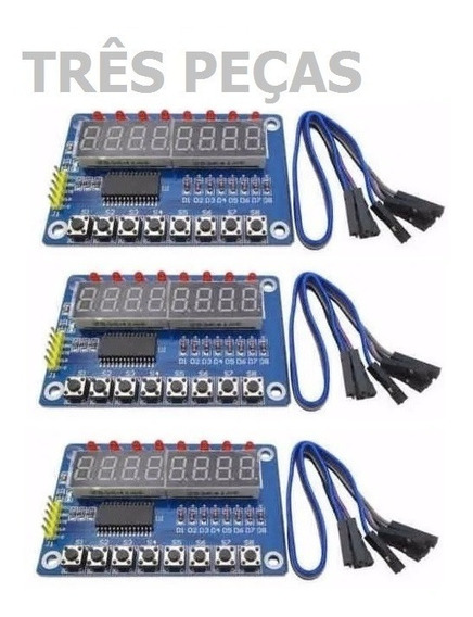 Tm1638 Avr Pic Arduino Teensy 8x 7seg 8x Led 8x Key X5