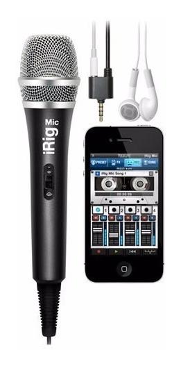 Irig Mic Ik Microfone Condensador P/ Ios Android Nf Garantia