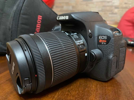 Câmera Cânon T5i Na Caixa + Conjunto De Filtros + 2 Baterias