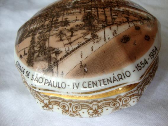 Porta Jóia Cachepo Porcelana Iv Centenário 1954