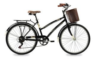 Bicicleta Urbana Vintage Olmo Amelie Rapide R26 6 Vel +linga