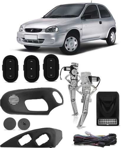 Kit Vidro Elétrico Gm Corsa Wind Pick Up 2 Porta 1994 1995 1996 1997 2000 2001 2002 Modulo Sensorizado