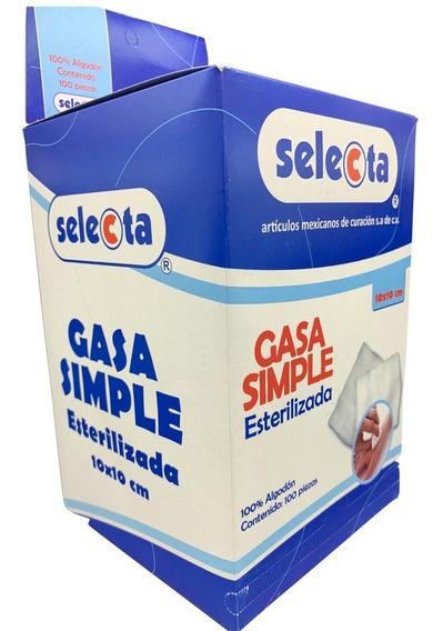 Gasa Estéril Con 12 Capas De 10 X 10 Caja C/100 Piezas