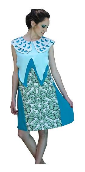 Vestido Corto Estampado Mariposas - Soph